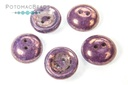 Cup Buttons - White Lila Vega Luster (5 pack)