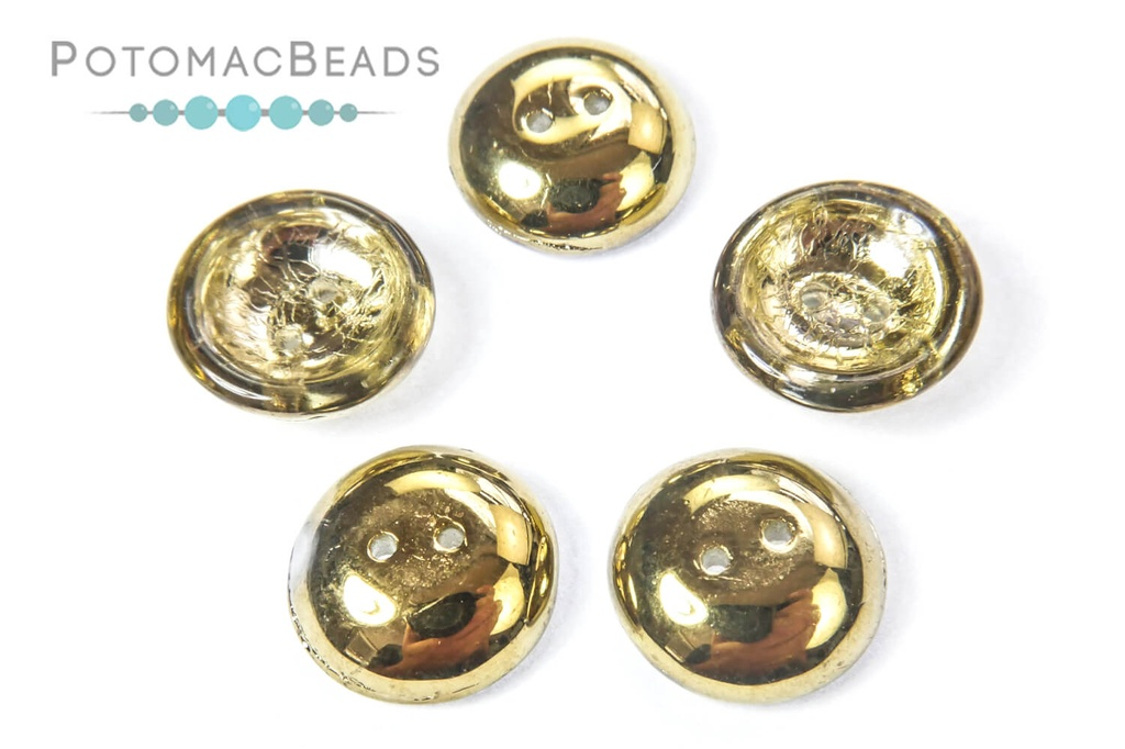 Cup Buttons - Crystal Amber (5 pack)