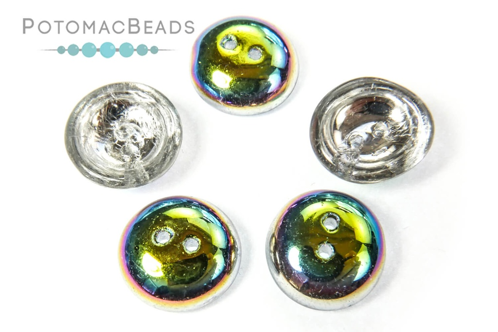 Cup Buttons - Crystal Vitrail (5 pack)