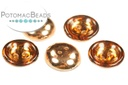 Cup Buttons - Topaz Capri Gold (30 pack)