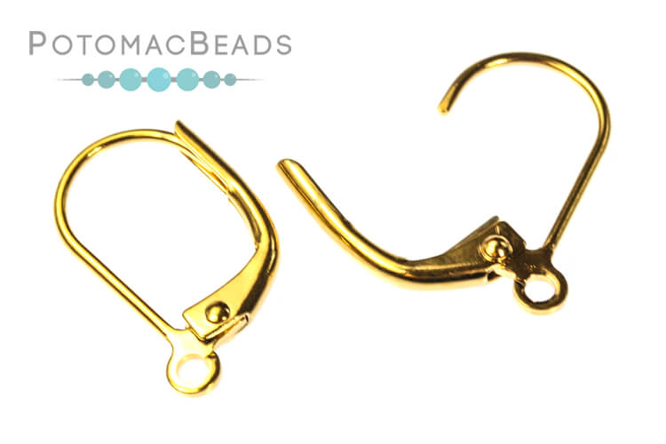 Leverback Earwires Gold Plated