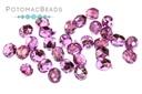 Czech Faceted Round Beads - Purple Metallic Ice 3mm
