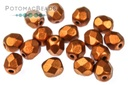 Czech Faceted Round Beads - Copper 4mm