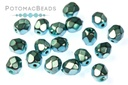 Czech Faceted Round Beads - Metal Comet 4mm