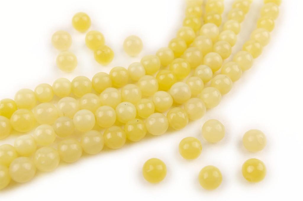 Gemstones - Serpentine Jade Round Beads 4mm