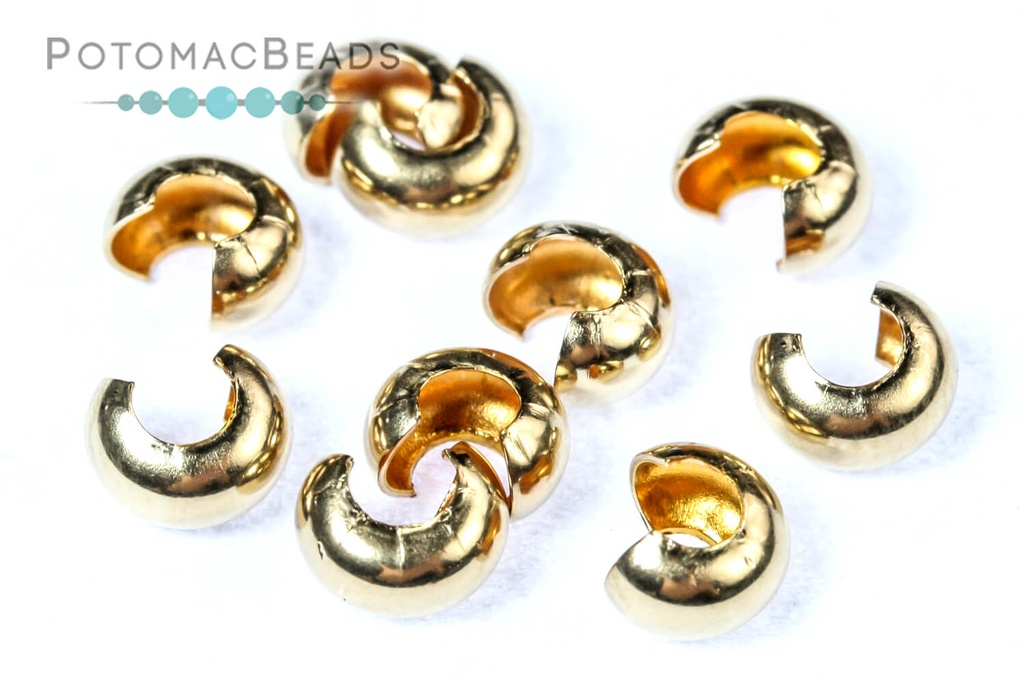 Crimp Bead Covers 4mm Gold-Filled