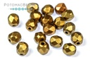 Czech Faceted Round Beads - Metallic Mix 4mm