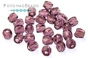 Czech Faceted Round Beads - Amethyst 3mm