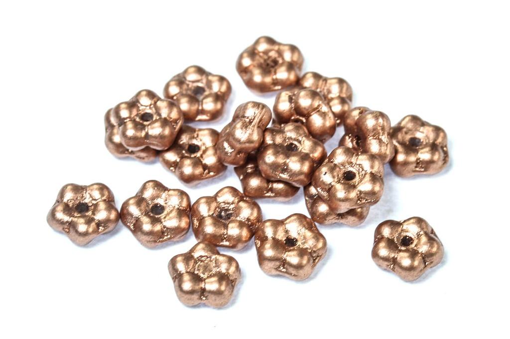 Czech Daisy Beads - Vintage Copper