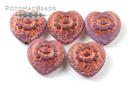 Folklore Heart - Amethyst Opal Copper 17x17mm