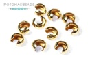 Crimp Bead Covers 3mm Gold-Filled
