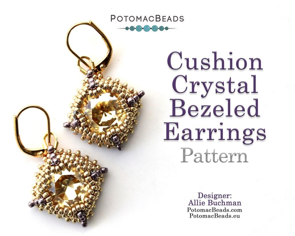 Cushion Crystal Earrings Pattern