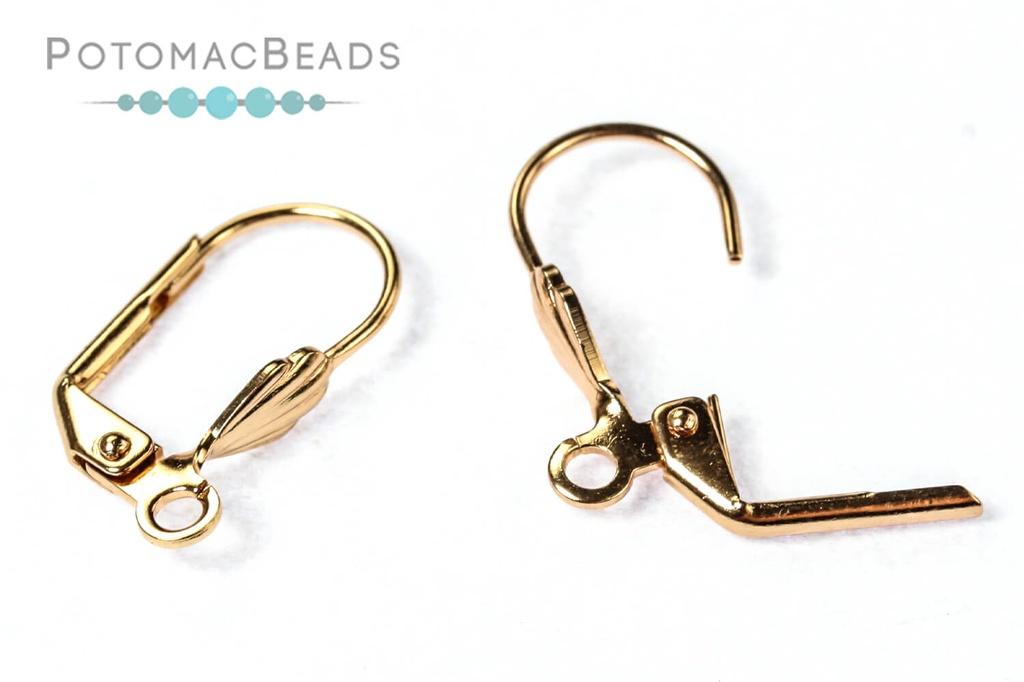 Leverback Earwires - 18mm Premium 24kt Rose Gold Plated Brass