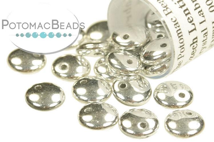 Czech Lentil Beads - Crystal Labrador Full 6mm