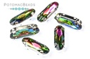 Potomac Crystal Long Ovals (in settings) - Crystal Vitrail 5x15mm