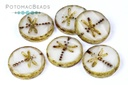 Dragonfly Beads - Opal Dark Travertine