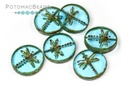 Dragonfly Beads - Aqua Travertine