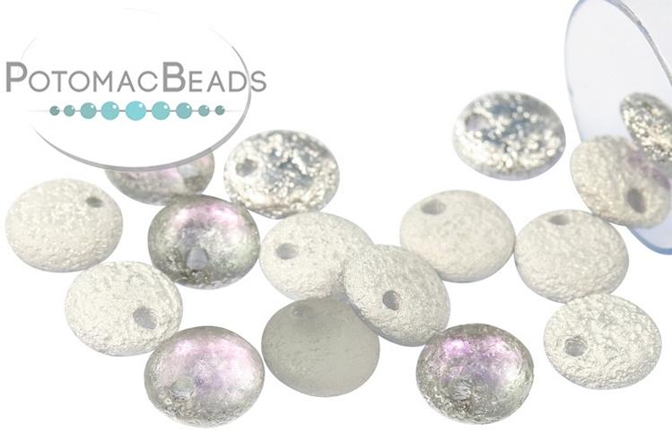 Czech Lentil Beads - Etched Vitrail Light 6mm
