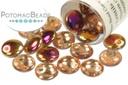 Czech Lentil Beads - Crystal Sliperit 6mm