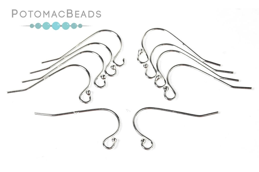 Ball Earwires 21G Sterling Silver