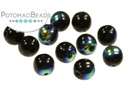 RounDuo Beads - Jet AB (Pack of ~75) 5mm
