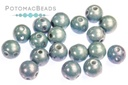RounDuo Beads - White Baby Blue Luster (Factory Pack of 600) 5mm