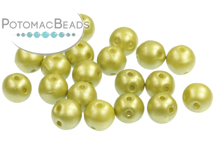 RounDuo Beads - Pastel Lime (Pack of 75) 5mm (closeout)
