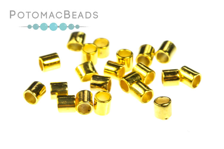 Crimp Tubes 2x1.5mm Gold Plated