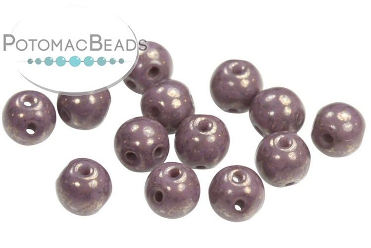 RounDuo Beads - Opaque Lila Teracotta Copper (Pack of 600) (closeout)