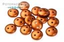 CzechMates 2-Hole Lentil Beads - Copper