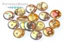 CzechMates 2-Hole Lentil Beads - Crystal Brown Rainbow