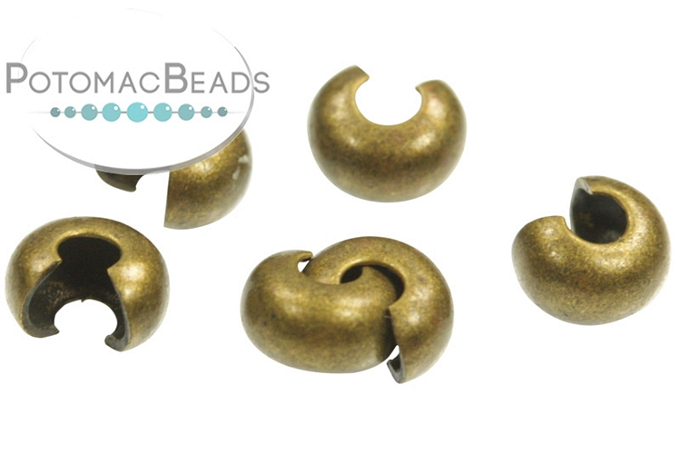 Crimp Cover 4mm Antique Brass Plated (Pack of 144)