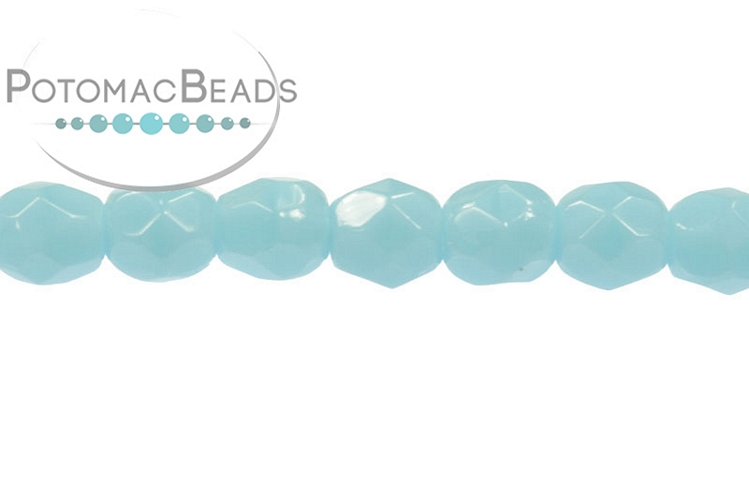 Czech Faceted Round Beads - Turquoise 3mm