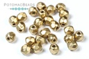 Czech Faceted Round Beads - Aztec Gold 3mm