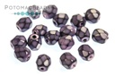 Czech Faceted Round Beads - Snake Dark Orchid 4mm