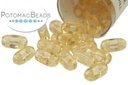 2-Hole Bar Beads - Champagne Luster 2x6mm