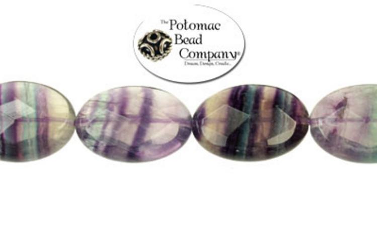 Gemstones - Fluorite Faceted Ovals 16x20mm