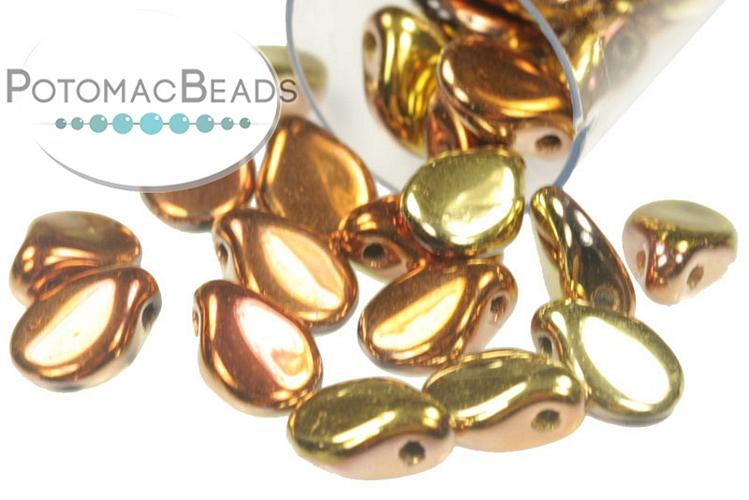 Pip Beads - Jet California Gold Rush