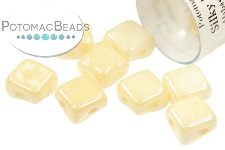 Silky Beads - White Champagne Luster