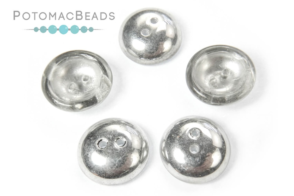 Cup Buttons - Aluminum Silver (30 pack)