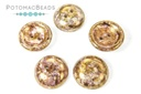 Cup Buttons - White Lila Gold Luster (5 pack)