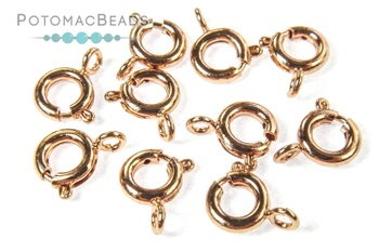 [153152] Spring Clasp 6mm - Premium 24kt Rose Gold Plated