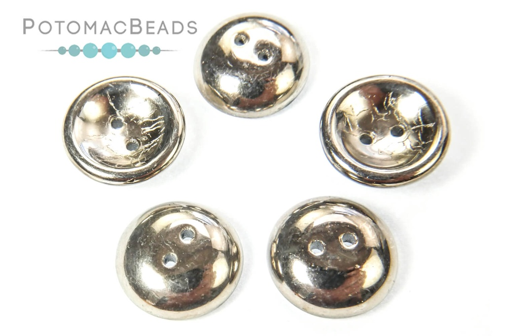 Cup Buttons - Jet Argentic Full (5 pack)