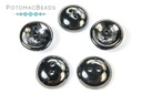 Cup Buttons - Jet Hematite (30 pack)