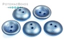 Cup Buttons - Metallic Sea Blue (5 pack)