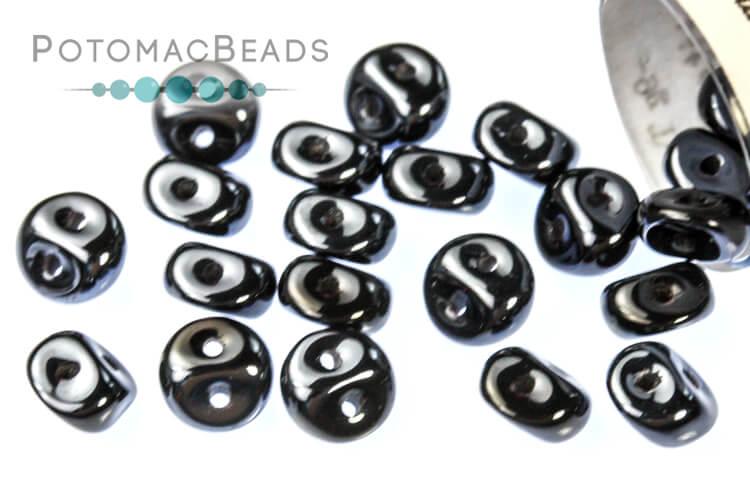 Es-o Beads - Jet Blue Hematite Full