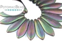 2-Hole Dagger Beads - Purple Iris Matte 5x16mm