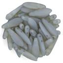 2-Hole Dagger Beads - Matte Opaline Milky Jonquiul 5x16mm