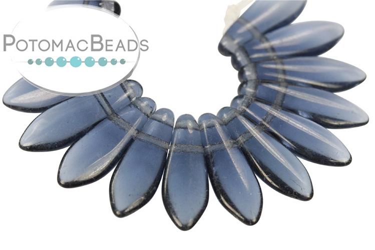 2-Hole Dagger Beads - Montana Blue 5x16mm
