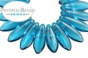 2-Hole Dagger Beads - Teal 5x16mm
